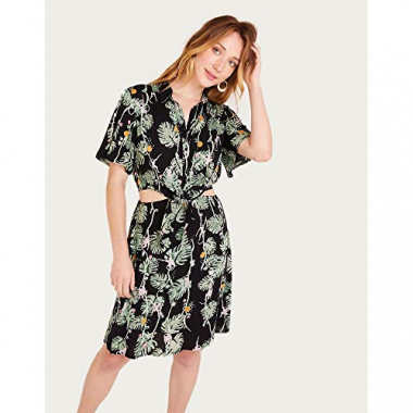 Vestido Chemisier Viscose-Estampado-44