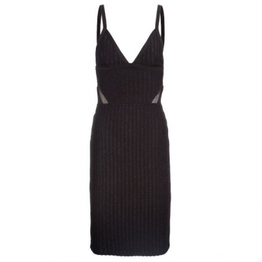 Vestido Cutting Tule Animale - Preto