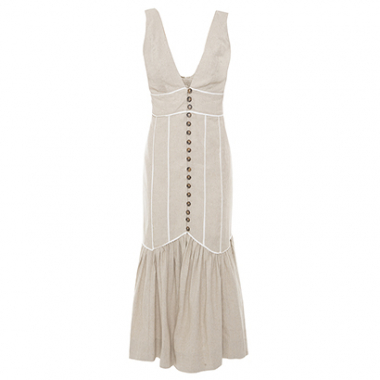 Vestido Jasmine Off White Summer House + Gallerist