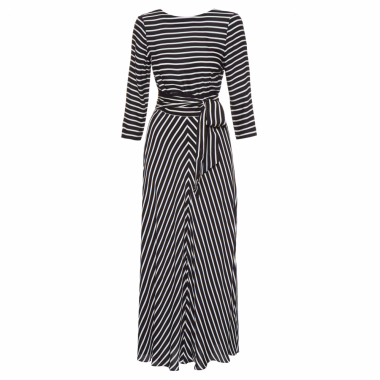 Vestido Lady Stripes - Preto