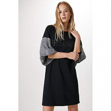 Vestido Life Is A Party-Preto - P