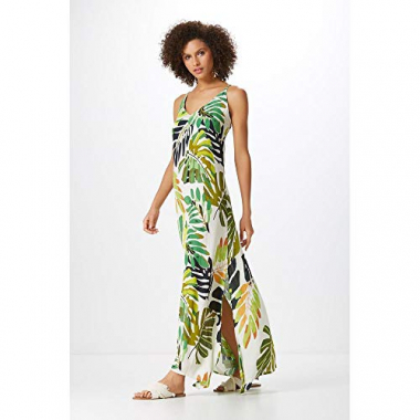Vestido Longo Estampa Green Leaves-Est. Green Leaves - P