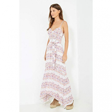 Vestido Longo Estampa Isis Off White - 42