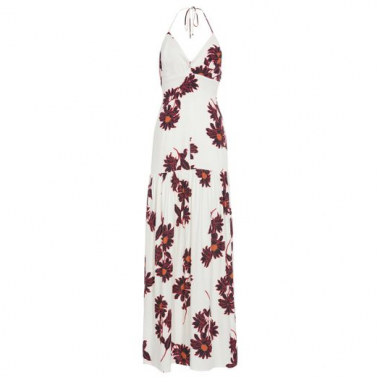 Vestido Longo Floral Animale - Off White