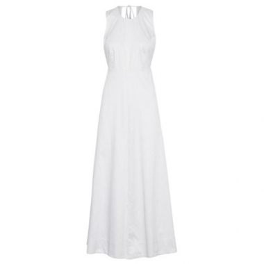 Vestido Longo Striped Osklen - Off White