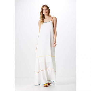 Vestido Longo Vivo Color-Off White - P
