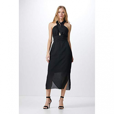 Vestido Midi Crossed-Black - P