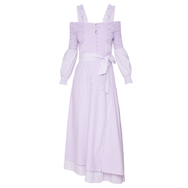 Vestido Midi Mix Lilac Framed