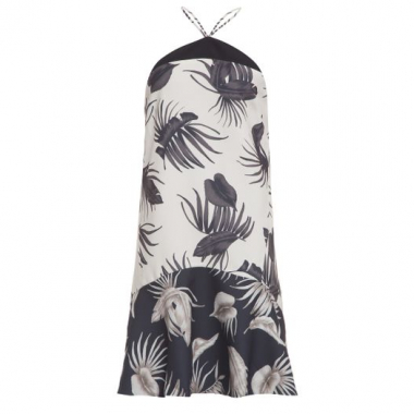 Vestido Mix Cap Ferrat Animale - Off White