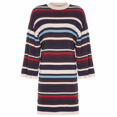 Vestido Mix Stripes - Bege