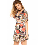 Vestido My Favorite Thing(s) Floral Preto