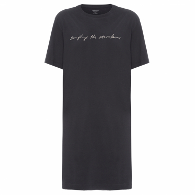 Vestido T-Shirt Surfing The Montains - Preto