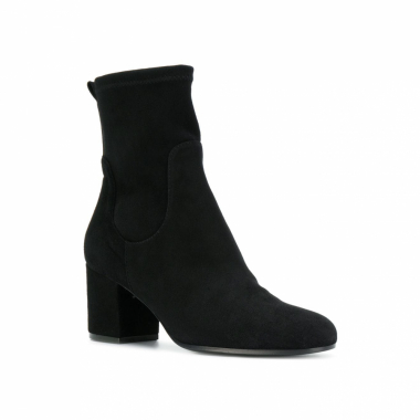 Via Roma 15 Ankle Boot Com Salto Largo - Preto