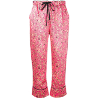 Victoria Victoria Beckham Cropped Printed Trousers - Rosa