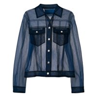 Viktor & Rolf Sheer Shirt-Like Top - Azul