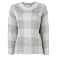 Vince Check Knit Sweater - Cinza