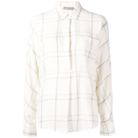 Vince Checked Shirt - Branco