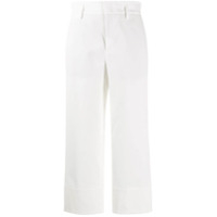 Vince Cropped Straight-Leg Trousers - Branco