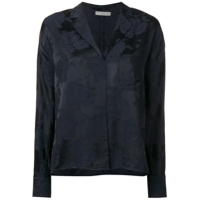 Vince Floral Embroidered Shirt - Azul
