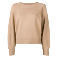 Vince Long-Sleeve Fitted Sweater - Neutro