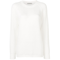 Vince Longline Round Neck Sweater - Branco