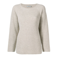 Vince Ribbed Knit Sweater - Neutro
