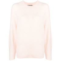 Vince Textured Round Neck Sweater - Rosa