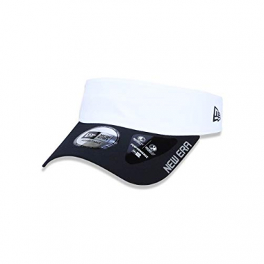 Viseira Branded Aba Curva Branco/preto New Era