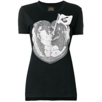 Vivienne Westwood Anglomania Camiseta Com Estampa 'world Heart' - Preto