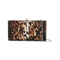We11Done Clutch Com Estampa De Leopardo E Corrente - Marrom