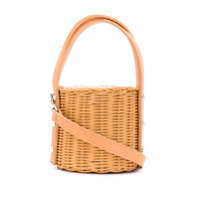 Wicker Wings Quan Bucket Bag - Laranja
