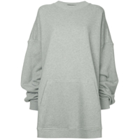 Y/project Blusa De Moletom Oversized - Cinza