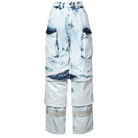 Y/project Calça Jeans Destroyed - Azul