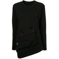 Y's Buttoned Oversize T-Shirt - Preto