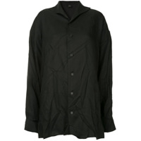 Y's Crinkled Classic Shirt - Preto