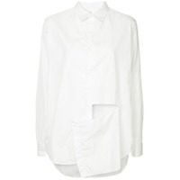 Y's Cut-Out Oversize Shirt - Branco