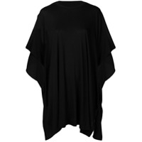 Y's Draped Oversized T-Shirt - Preto