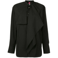 Y's Layered Frill Shirt - Preto