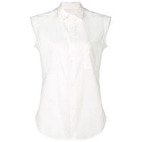 Y's Plain Sleeveless Shirt - Branco