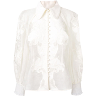 Zimmermann Lace Embroidered Shirt - Branco