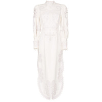 Zimmermann Ninety-Six Embroidered Silk Dress - Branco