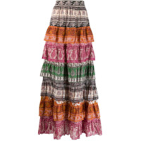 Zimmermann Sama layered skirt - Rosa