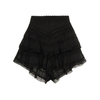 Zimmermann Short Juniper De Renda - Preto