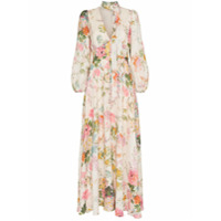 Zimmermann Vestido Longo Heather Floral - Neutro