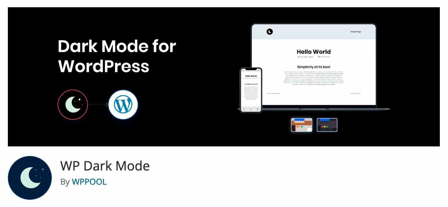 Plugin para modo oscuro en WordPress