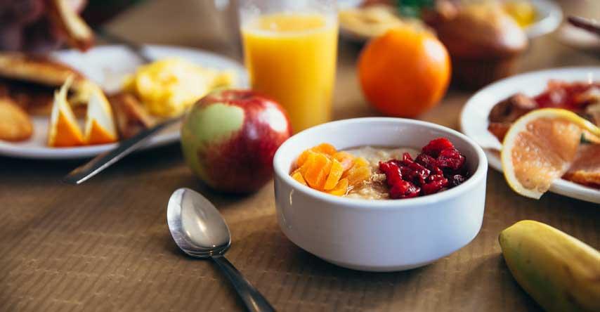 café da manhã do intercambio em casa de família