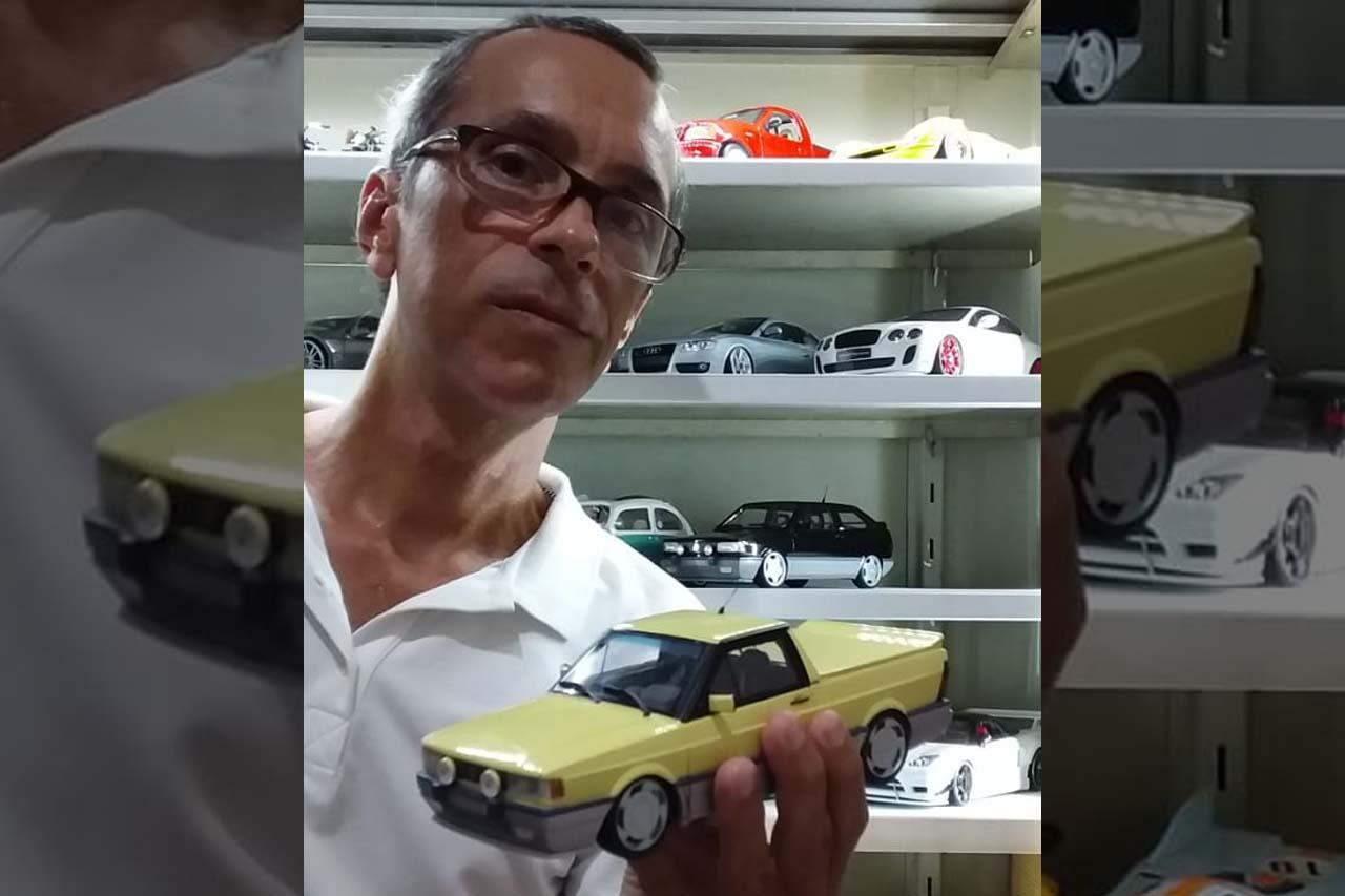 Rebaixamento, rodas, acessórios, tudo isso também é possível em carros de escalas menores de pelas mãos de um carioca radicado na Bahia