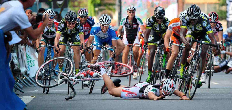 Primeiros socorros ao cair da bike
