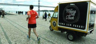 Food truck oferece hambúrguer de graça para quem correr