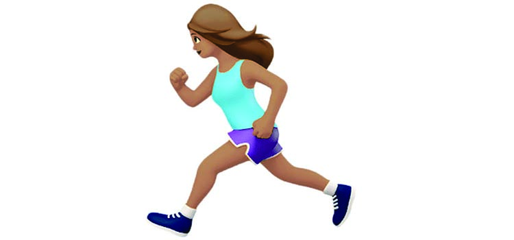 Apple lança emoji de corredora